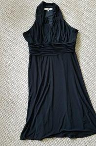 Evan Picone Slinky Sleeveless V Neck Dress